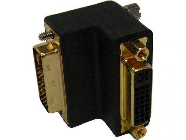 Adapter Delock DVI-I(M)(24+5) Dual link -> DVI-I(F)(24+5) Dual link Kątowy