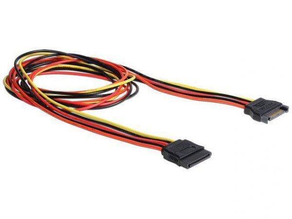 Przedłużacz kabla zasilającego Delock SATA 15PIN M/F 1m