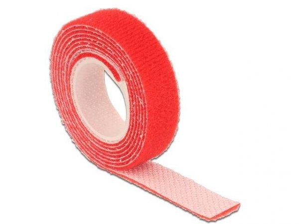 Organizer kabli Delock - rzep 1m x 13mm czerwony