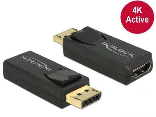 Adapter Delock DisplayPort 1.2->HDMI aktywny 4K black