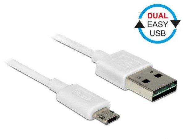 Kabel USB Delock micro AM-BM USB 2.0 Dual Easy-USB 2m