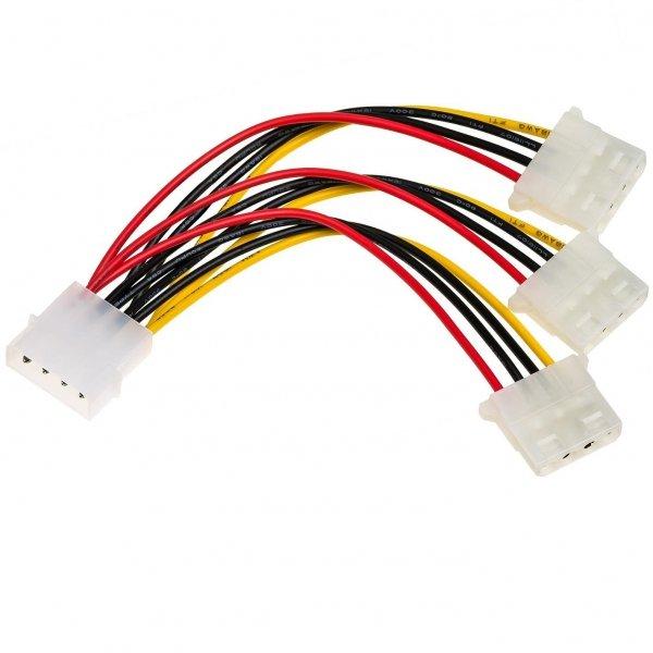 Kabel adapter Akyga AK-CA-40 Molex (M) - 3x Molex (F) 0,15m