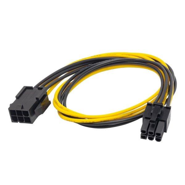 Kabel zasilający Akyga AK-CA-46 PCI Express 6pin 0,4m