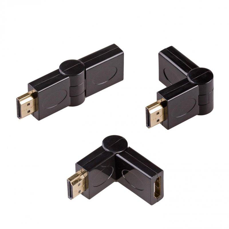 Adapter Akyga AK-AD-40 HDMI /M - HDMI /F kątowy 180 stopni