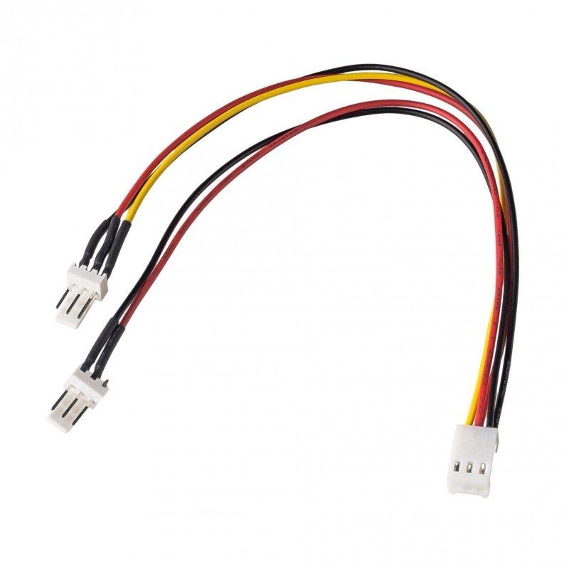 Kabel adapter Akyga AK-CA-52 3-pin (F) - 2x 3-pin (M) 0,15m