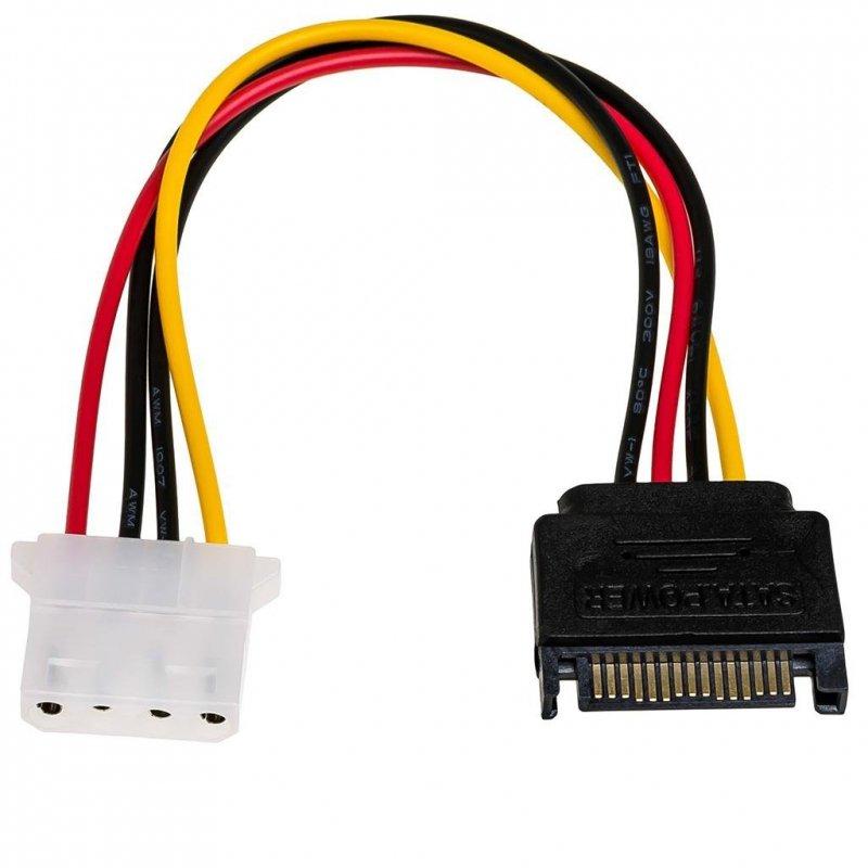 Kabel adapter Akyga AK-CA-11 SATA (M) - Molex (F) 0,15m
