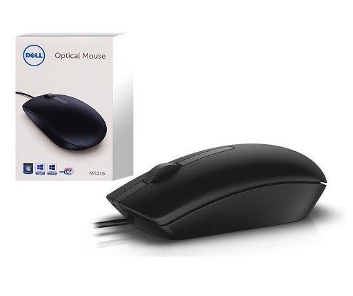 Mysz przewodowa MS116 Optyczna czarna