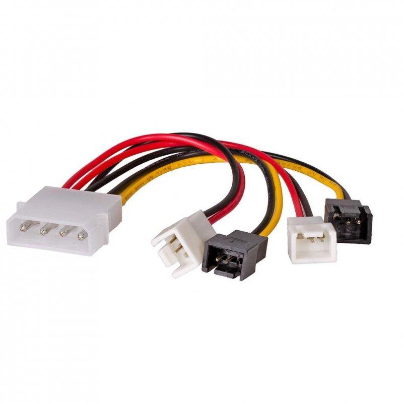 Kabel adapter Akyga AK-CA-34 Molex (M) - 2x 3-pin 12V + 2x 3-pin 5V (M) 0,15m