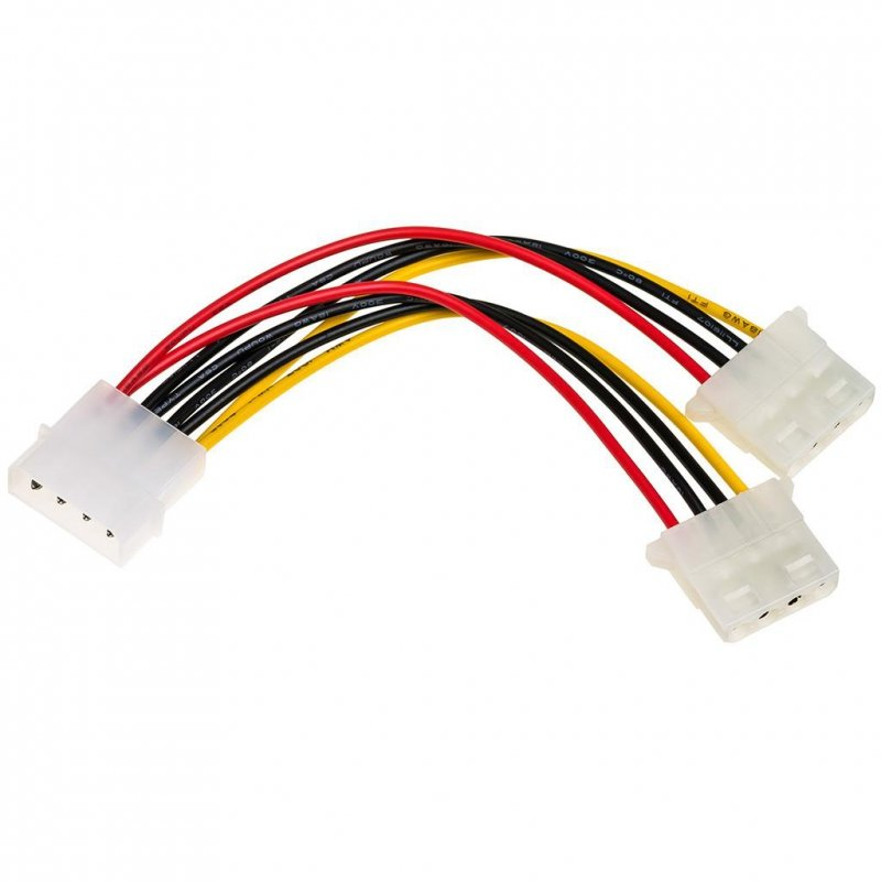 Kabel adapter Akyga AK-CA-15 Molex (M) - 2x Molex (F) 0,15m
