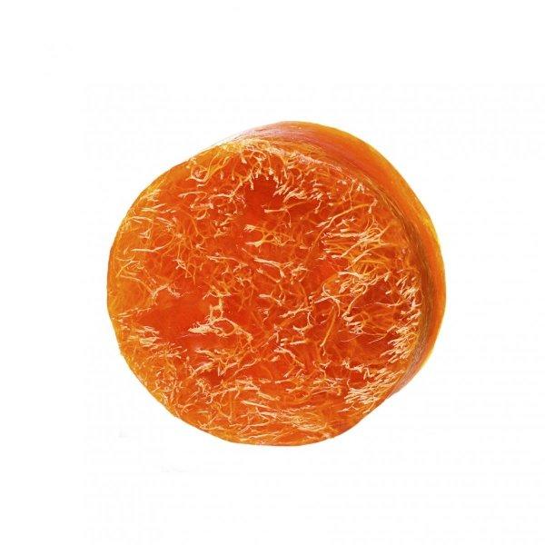 MYDŁO GLICERYNOWE mango z gąbką loofah