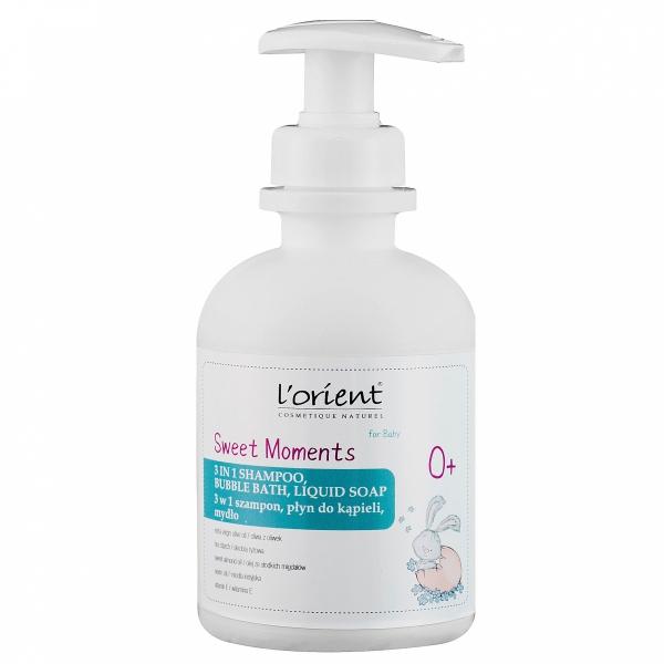 Sweet Moments 3 w 1 szampon, płyn i mydło od 1 dnia życia