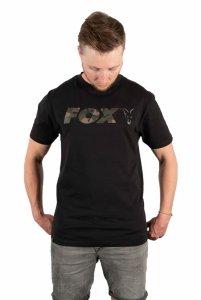 Fox t-shirt Black/Camo Chest Print T-Shirt XXXL CFX024