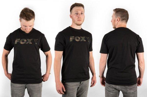 Fox t-shirt Black/Camo Chest Print T-Shirt XXL CFX023