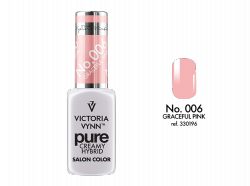 006 Graceful Pink-kremowy lakier hybrydowy  Victoria Vynn PURE (8ml)