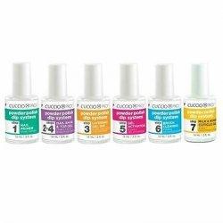Manicure tytanowy zestaw płynów kroki 1 - 7 - Cuccio DIP