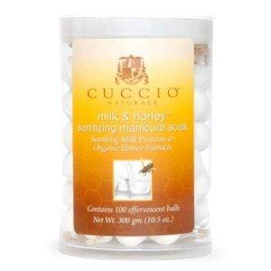 Kulki musujące do manicure - Miód i Mleko 100 szt Cuccio - Zmiękczają, odświeżają i nawilżają