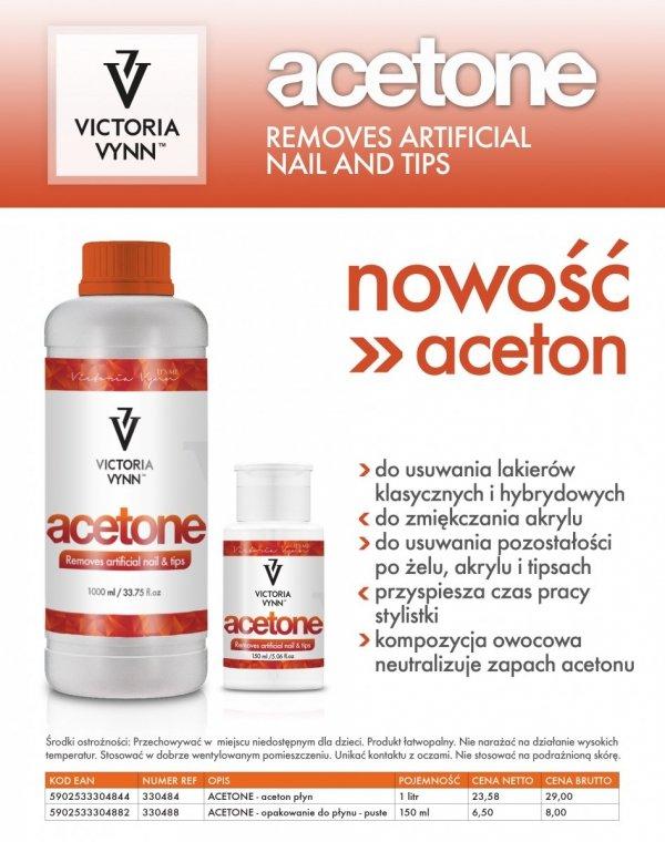 ACETON KOSMETYCZNY -  DO USUWANIA MANICURE HYBRYDOWEGO 1000 ML Victoria Vynn