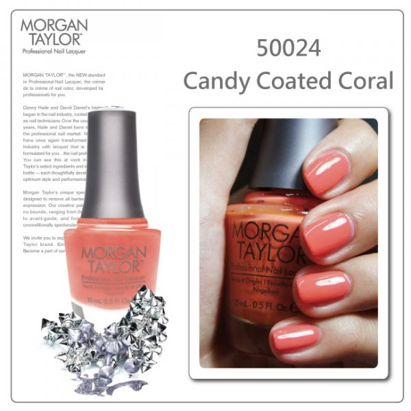 Lakier Morgan Taylor 15ml - Candy Coated Coral 50024