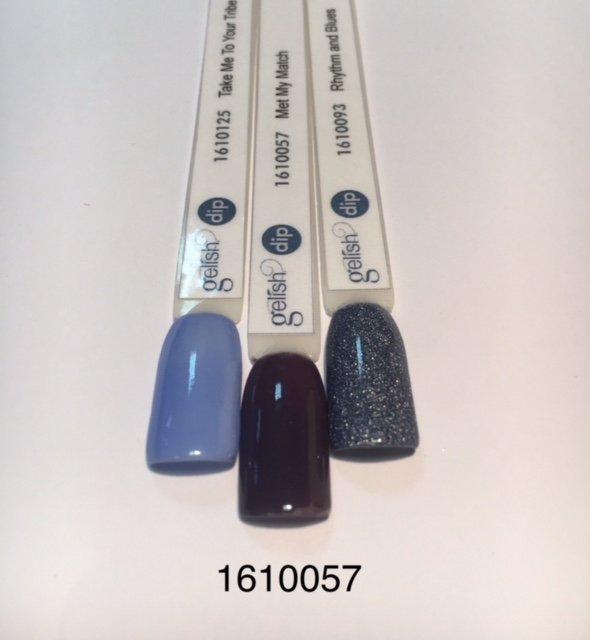 Puder do manicure tytanowego - GELISH DIP - Met My Match 23 g -  (1610057)