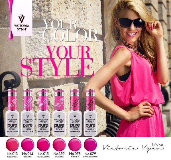 078 Pinky Pink - kremowy lakier hybrydowy Victoria Vynn PURE (8ml)