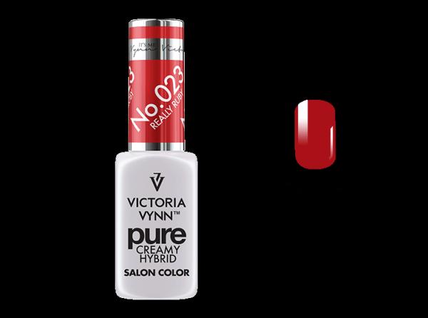 023 Really Ruby - kremowy lakier hybrydowy Victoria Vynn PURE (8ml)