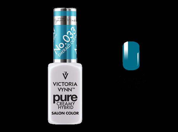 033 Emerald Ocean - kremowy lakier hybrydowy Victoria Vynn PURE (8ml)