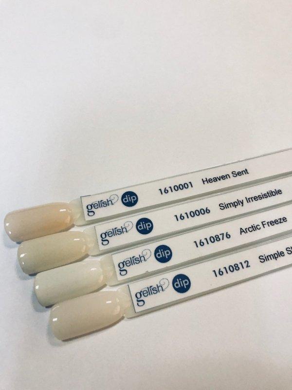 Puder do manicure tytanowy - GELISH DIP - Arctic Freeze 23 g (876) - biały - idealny do FRENCH'a