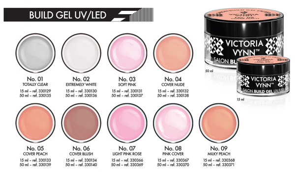 No.07 Delikatny różowy żel budujący 15ml Victoria Vynn Light Pink Rose