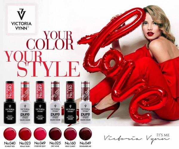 Lakier hybrydowy Victoria Vynn GP 040 Scarlet Red