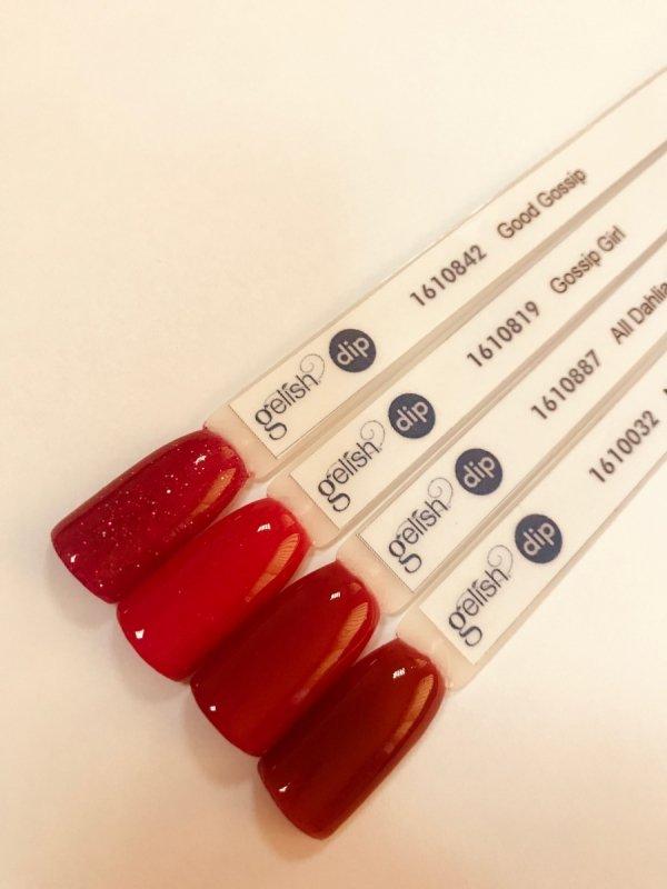 Puder do manicure tytanowy - GELISH DIP - Gossip Girl 23 g - (1610819)