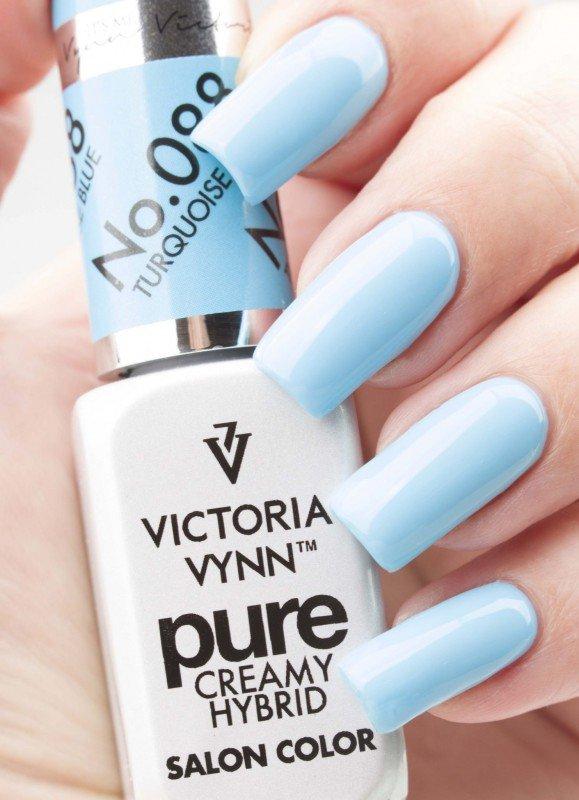 088 Turquoise Blue - kremowy lakier hybrydowy Victoria Vynn PURE (8ml)