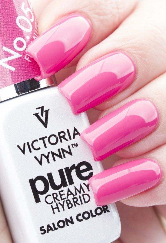 054 Flirt Allert - kremowy lakier hybrydowy Victoria Vynn PURE (8ml)