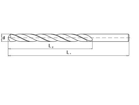 Wiertło do metalu 4,8 mm NWKa HHS BAILDON