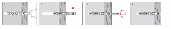 Kołki rozporowe 12x120 KKX - 50szt