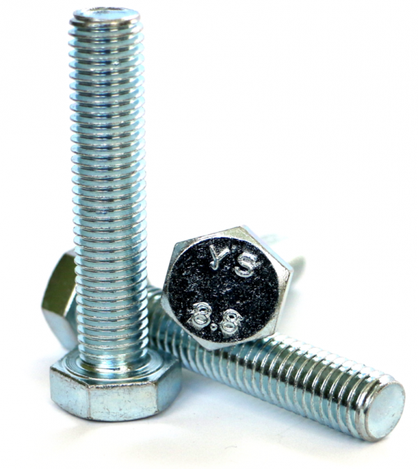 Śruby M8x100 kl.8,8 DIN 933 ocynk - 3 kg