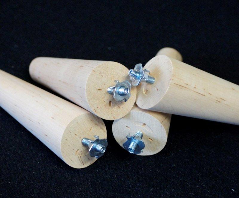 Noga drewniana w kształcie stożka A-42 /skos/