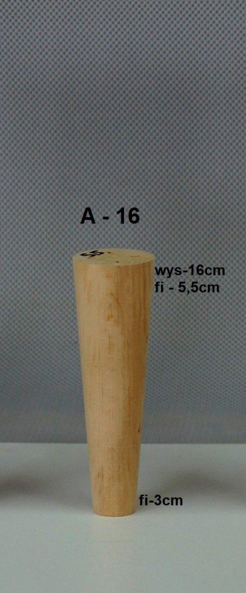 Noga drewniana w kształcie stożka A-16