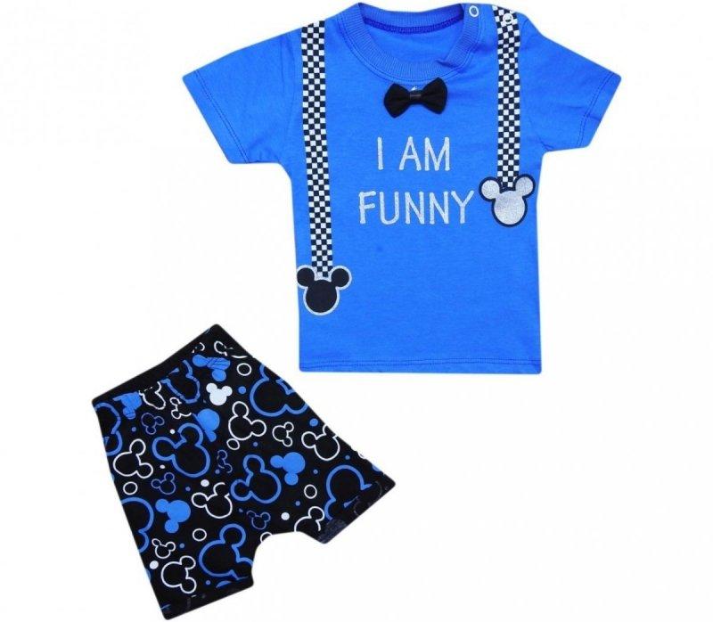 Komplet chłopięcy 0012 T-shirt spodenki Promocja