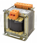 Zwykły transformator jednofazowy 230V / 3-6-12-24V, max.100VA TVTR-100-A