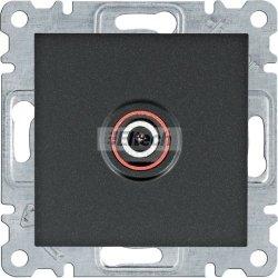 lumina Gniazdo pojedyncze TV dla instalacji indywidualnych, czarny WL3213