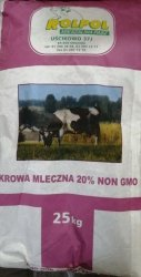 Krowa Mleczna 20% sypka NON GMO  25kg