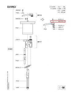 Podkładka pod śrubkę M103 do dozownika Dosatron D25RE