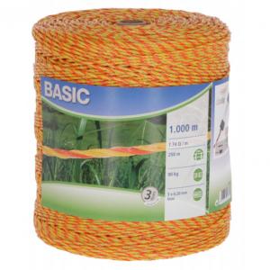 Plecionka BASIC 1000m, żółto-pomarańczowa