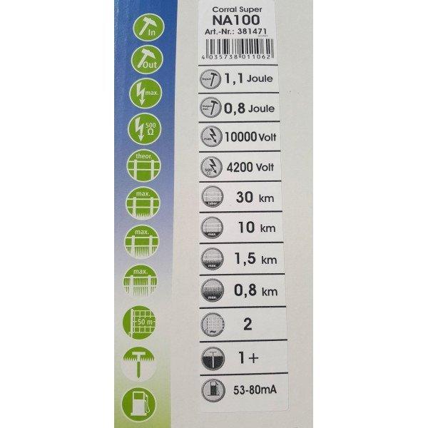 Elektryzator Corral NA100 DUO