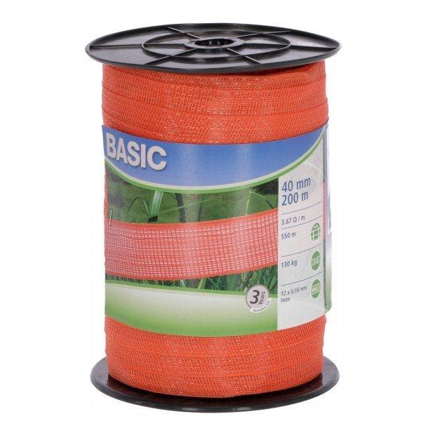 Taśma BASIC 200m 40mm - 2 kolory