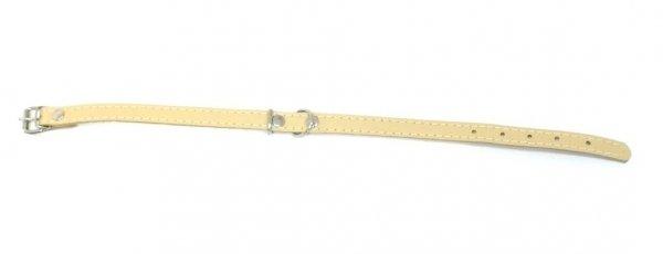 Obroża skórzana beżowa 60cm