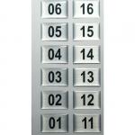 Numeracja stojaka szatniowego SJ.40 ; SJ.50 - 44 sztuki