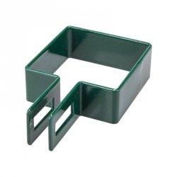 Obejma końcowa 100x100 zielona - 25 sztuk