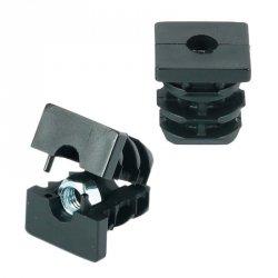 Wkładka z gwintem metalowym 25x25mm M8 ść.1,0-1,5 - 50 sztuk