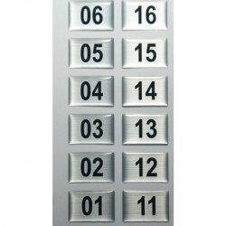 Numeracja wieszaka szatniowego WS.11; WS.12; WS.13 - 16 sztuk